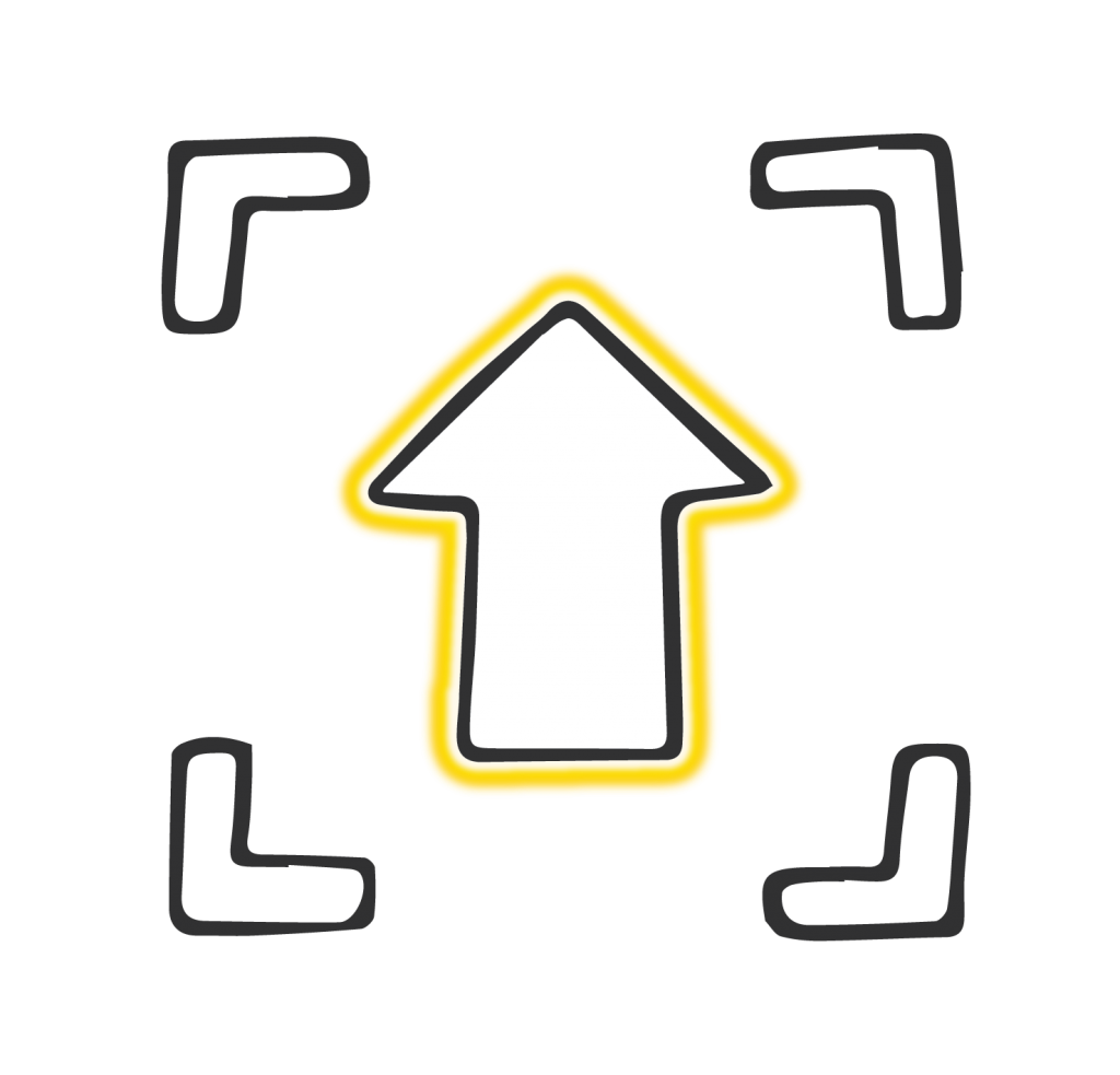 Focus and direction image yellow