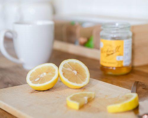 Yellow Lemon Tea and Honey Kitchen
